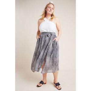 New Anthropologie Annette Tied Midi Skirt MAEVE